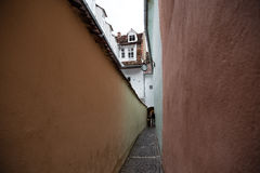 Rope street. In Brasov , a pedestrian street Stock Photos