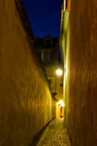 Rope Street, Brasov, Romania - night view Royalty Free Stock Photos