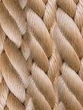 Rope structure. Weaving of a rope from a natural fibre stock images