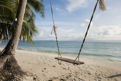 Rope swing on beach, Koh Pha Ngan, Thailand Royalty Free Stock Image