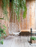 Rope swing chair Royalty Free Stock Images