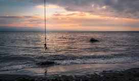 A Rope Swing in Ucluelet Royalty Free Stock Images
