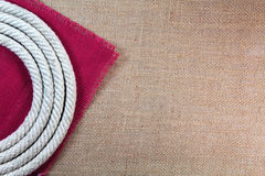 Rope swirl with jute Stock Images