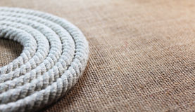 Rope swirl with jute Stock Photos