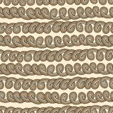 Rope tangled seamless pattern Stock Photos