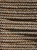 Rope texture. A horizontal rope texture  background Royalty Free Stock Photography