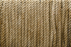 Rope Texture. Closeup of thick rusty old  rope Royalty Free Stock Photo