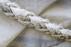 Rope textures on harbor Stock Image