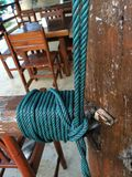 Rope. Tie a knot Royalty Free Stock Photos