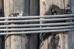 Wood and Rope royalty free stock images