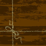 A rope tied in a bow Royalty Free Stock Photos