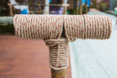 Rope tied knot Royalty Free Stock Images