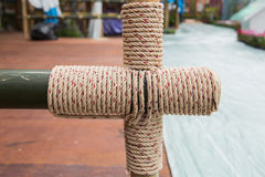 Rope tied knot Stock Photography