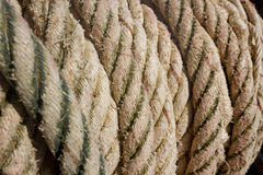 Rope. Tied on a yacht. Yacht equipment Stock Images