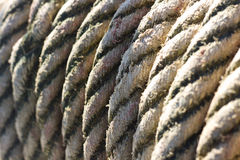 Rope tied. On a yacht. Yacht equipment Royalty Free Stock Photo