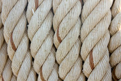 Rope. Tied on a yacht. Yacht equipment Stock Photo