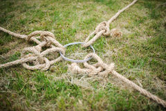 Rope tug of war Royalty Free Stock Photo