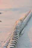 Rope twist and beach Stock Image