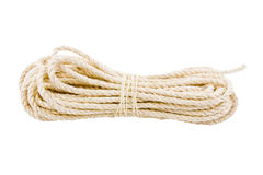 Rope twisted on a white background. Isolate stock photography