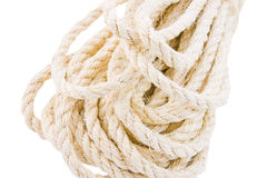 Rope twisted on a white background. Isolate stock photos