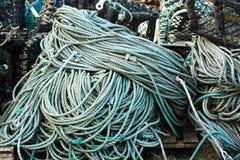 Rope used for fishing. Rope used for fishing in fisherman village Royalty Free Stock Image
