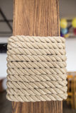 Rope is used for interior decoration. Royalty Free Stock Image