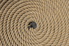 Rope on the USS Constitution Stock Photography