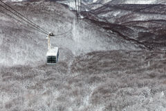 Rope vägen på monteringen Hakkoda, den Aomori prefekturen, Japan Royaltyfri Bild