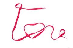 Rope Wörter für Ihre Liebeshochzeit mit lokalisiertem Hintergrund Stockfotografie