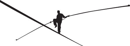 Rope walker Stock Images