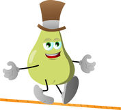 Rope walker pear Royalty Free Stock Photo