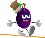 Rope walker plum Royalty Free Stock Photo