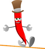 Rope walker red hot chili pepper Stock Photos