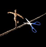 Rope walker risk. Royalty Free Stock Photos