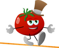 Rope walker tomato Royalty Free Stock Images