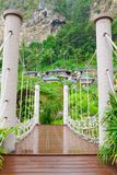 Rope walkway through Royalty Free Stock Image