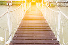 Rope walkway Royalty Free Stock Photo