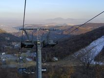 Rope-way γύρος στην Αρμενία στοκ φωτογραφία με δικαίωμα ελεύθερης χρήσης