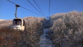 Rope-way do inverno Imagem de Stock