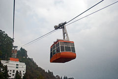 Rope way. The Rope way ride or Cable car is one of the major tourist attractions of Gangtok city. This is a must see at Gangtok as tourists can have a Royalty Free Stock Photos