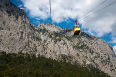 Rope way in Yalta. Royalty Free Stock Photography