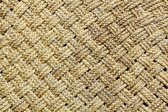Rope Weave. Hand made for background Stock Image