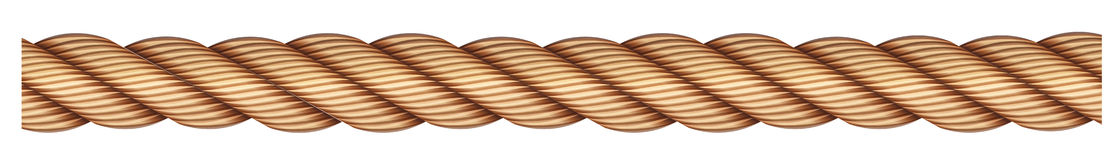 A rope. On a white background vector illustration