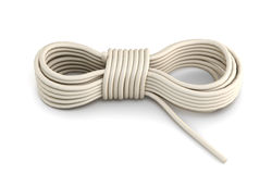 Rope  on white background. 3d rendering Royalty Free Stock Photos