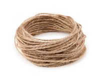 Rope on white background Royalty Free Stock Images