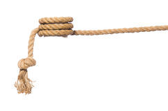 The rope on the white background Royalty Free Stock Photography