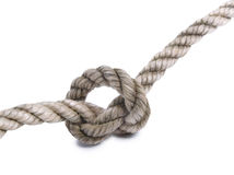 Rope on white Stock Photography