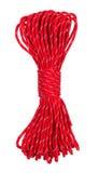 Rope on white. Rope isolated on white background. Parachute cordage Royalty Free Stock Images