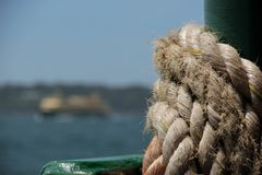 Rope on Winch Stock Photography