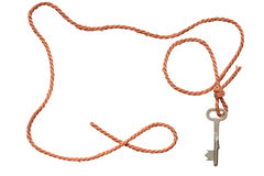 Rope With Key Stock Image